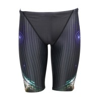 POQSWIM Men Solid Lycra Jammer Swimsuit PJ6008