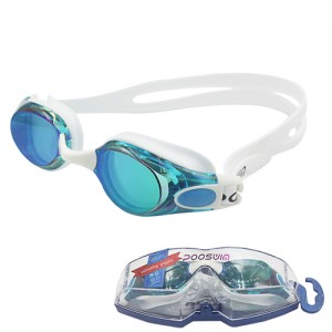 Poqswim Waterproof Anti Fog Uv Adults Professional Colored Lenses Diving Swimming Glasses Eyewear Swim Goggles