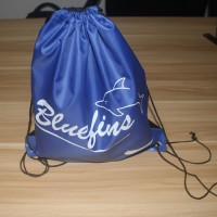 Custom Logo Promotional Nylon Drawstring Bag