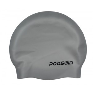 Poqswim Seamless and Wrinkle Free Silicone Solid Swim Cap