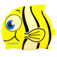 POQSWIM Cartoon swim cap, fish swim cap, cat swim cap, shark swimming cap