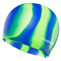 POQSWIM Multi Color Silicone Swim Cap
