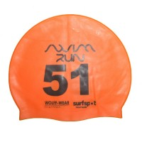 Open Water Swimming Games Print Number Swim Cap