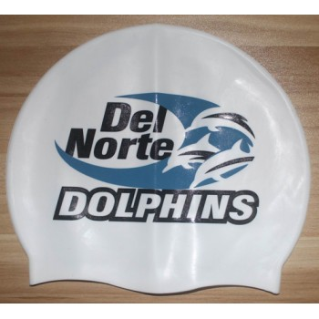 Print Your Logo Personalized Silicone Swim Cap