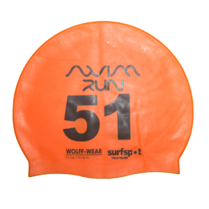 CUSTOM SWIM CAP WITH NUMBERS
